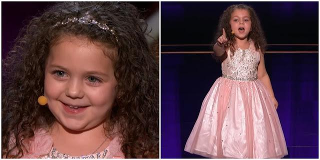 Маленькая 5-летняя девочка пришла на шоу и взорвала его своим недетским голосом