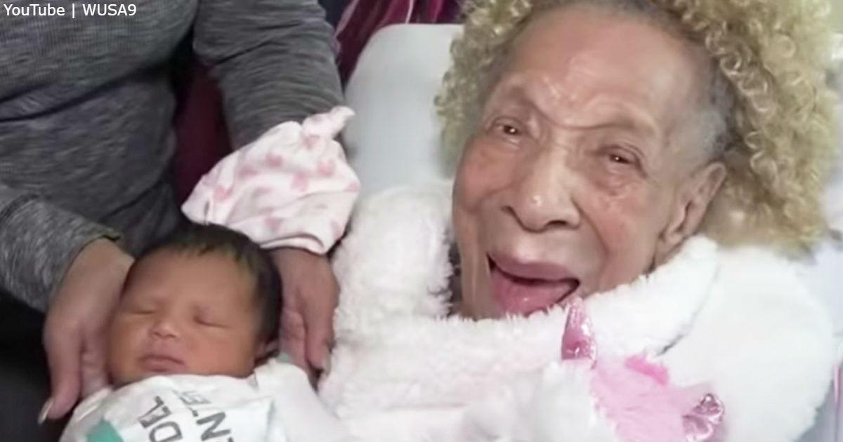 105 летняя прапрапрапрабабушка встречает правнучку в 5 поколении