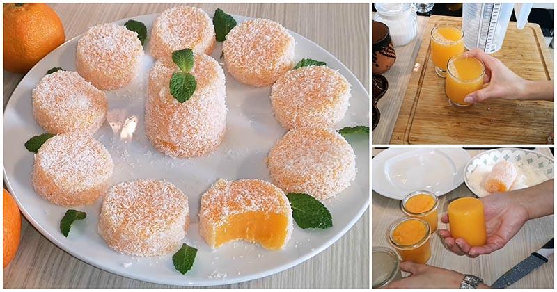 Мандариновый лукум — необычный рецепт домашнего десерта/