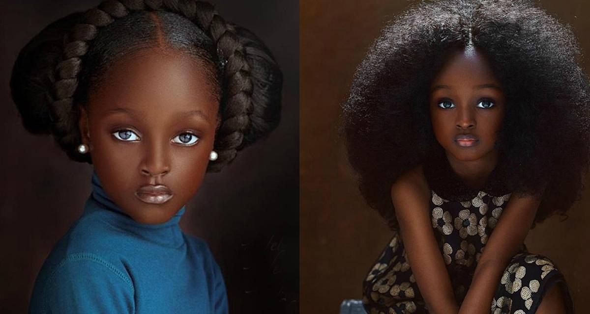5 летняя девочка стала самой красивой моделью в Нигерии. Ее снимки восхищают.