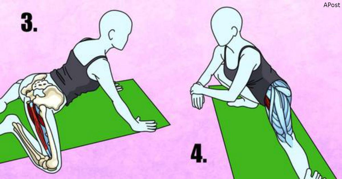 6 хороших растяжек, чтобы успокоить седалищный нерв