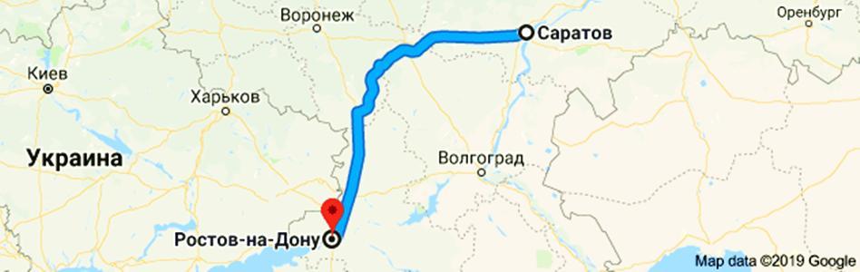 Расстояние от Саратова до Ростова и способы его проехать