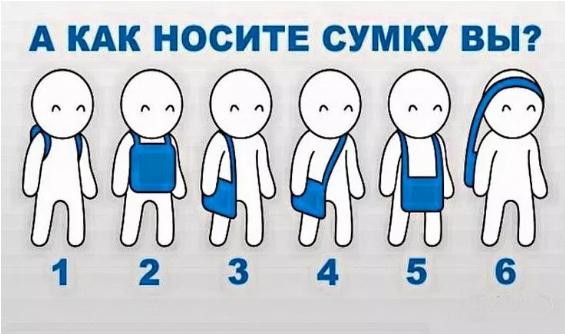 По тому, как вы носите сумку, можно многое рассказать о вашем характере