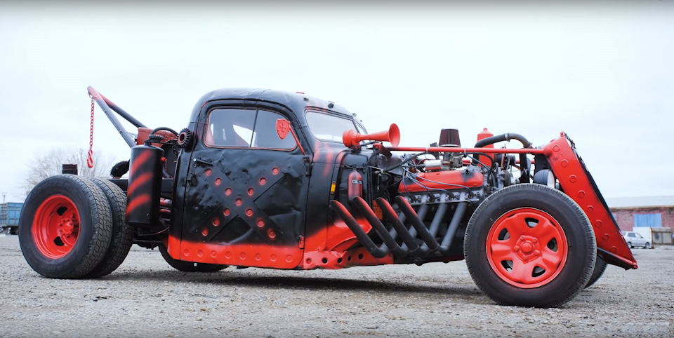 By hardcore. Tow truck hot rod from Armavir
