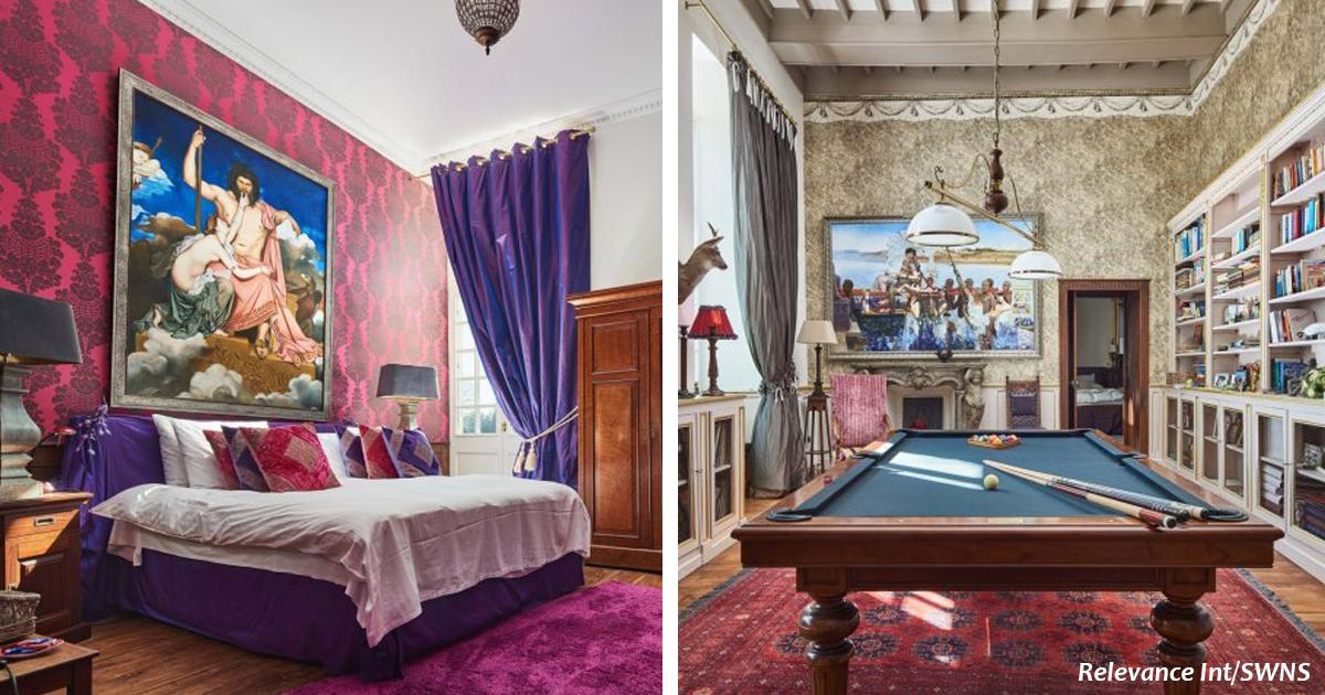 Французский замок с 17 спальнями выставили на продажу. Вот его фото изнутри