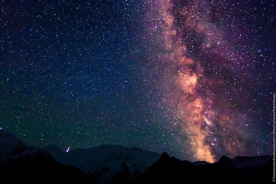 Звездопад над Памиром — Таймлапс 4К
