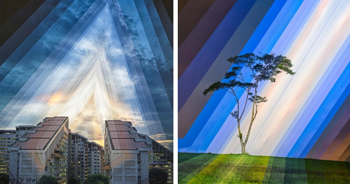 9 фото, собранных из одного и того же места в разное время суток
