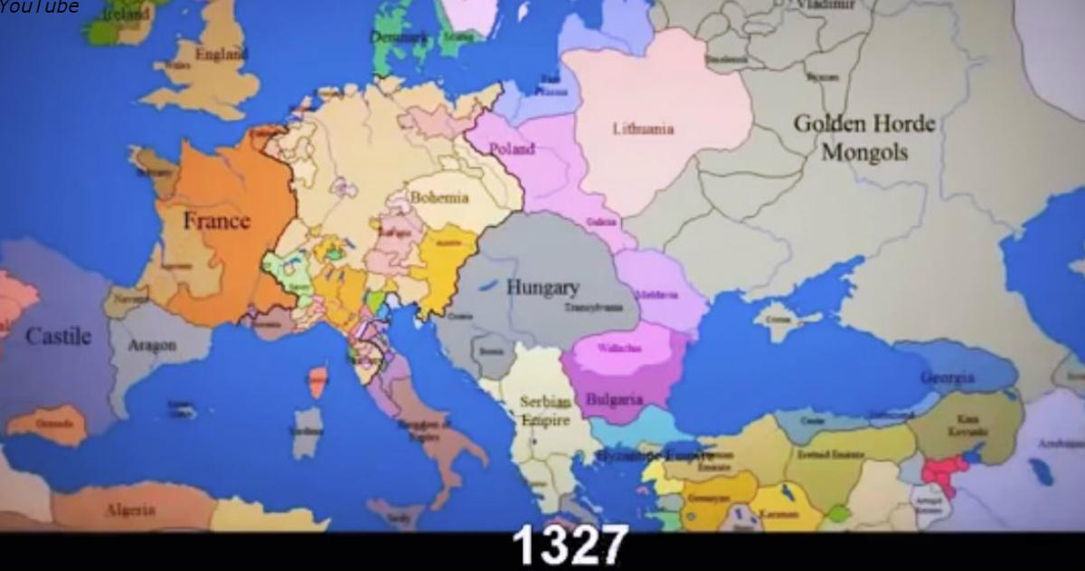 1000 лет за 3 минуты: как менялись государственные границы в Европе
