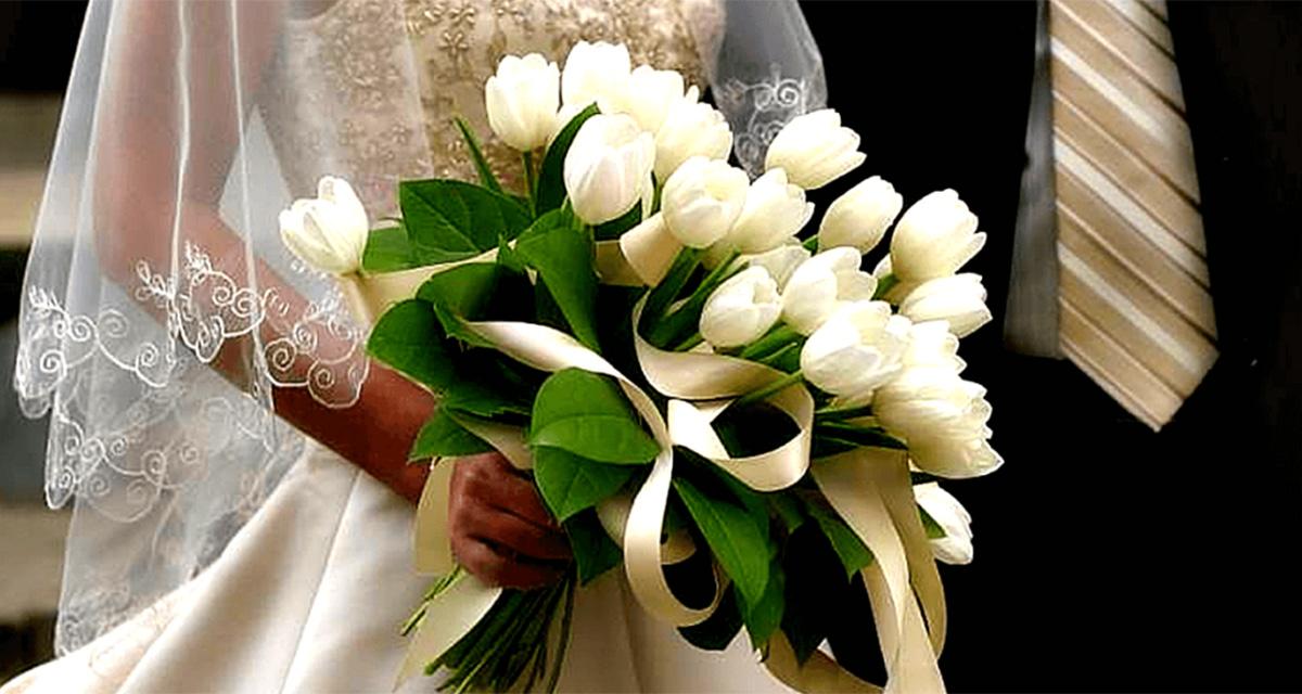 Он протянул букет ей тюльпанов: «Это вам!» Катя улыбнулась…