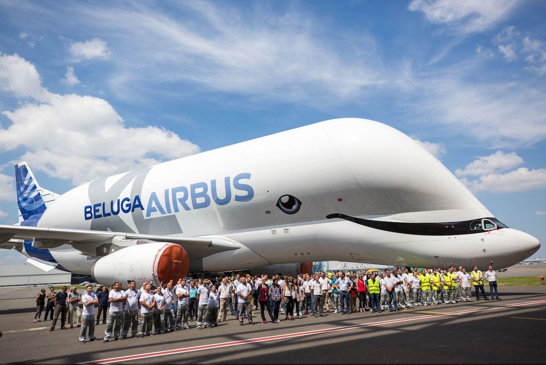 Новый самолет Beluga - самый милый и симпатичный в мире. Зачем он такой?