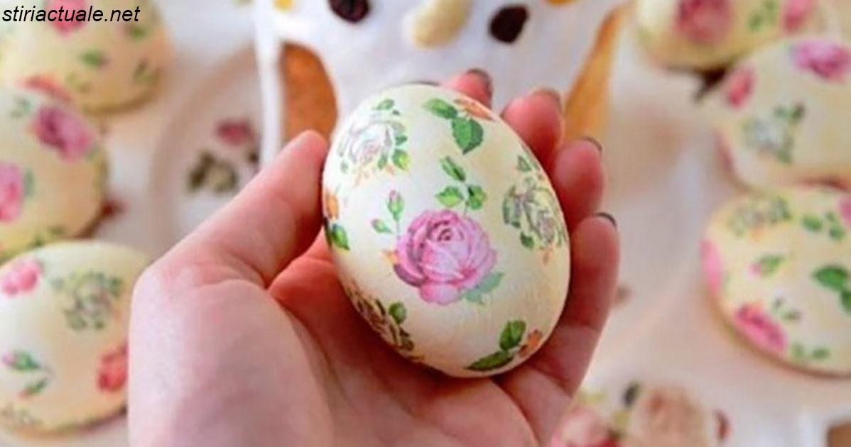 Как украсить пасхальные яйца с помощью одной салфетки