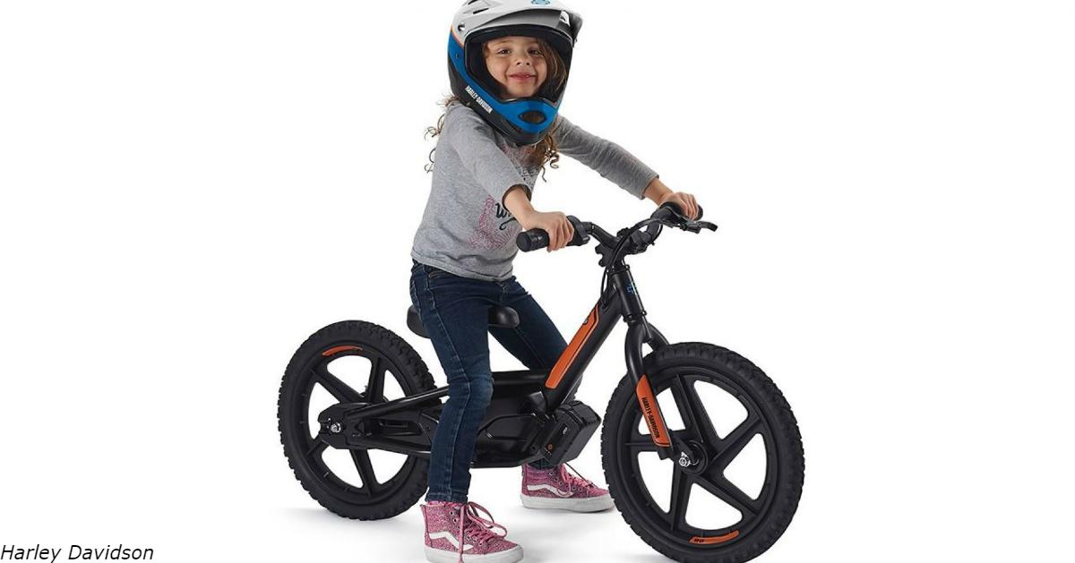 Harley Davidson выпустил электрический мотоцикл для 3 летних детей