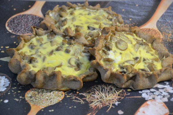 Перепечи с грибами