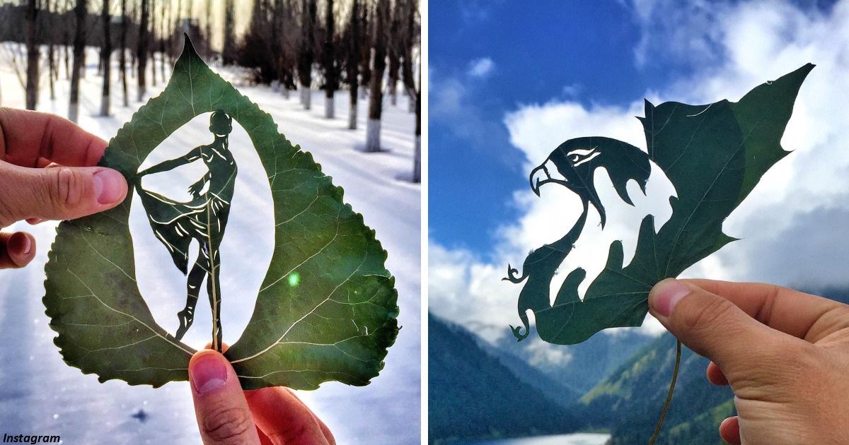 Резьба по листьям   новая форма искусства, которая завораживает