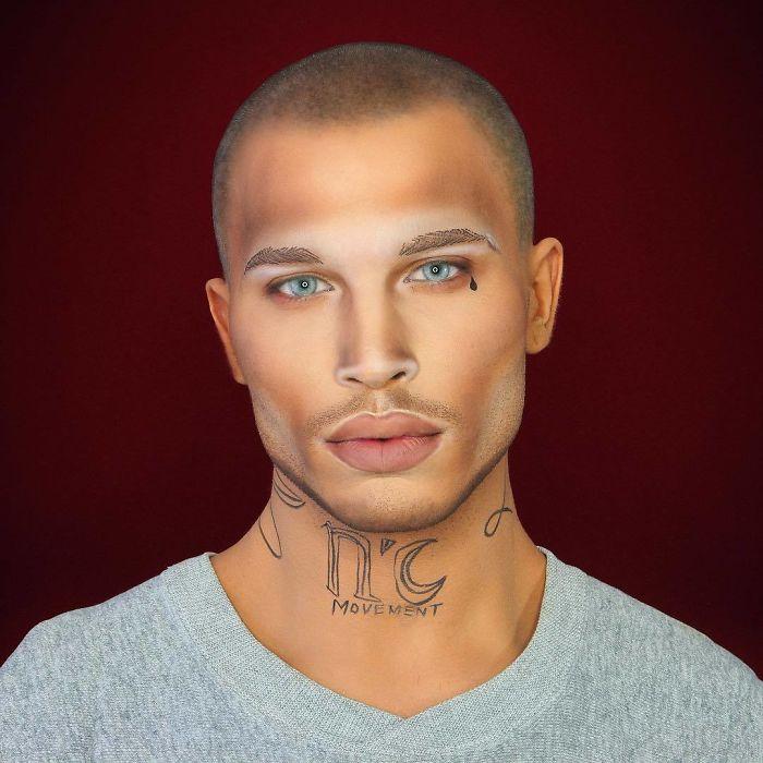 Этот парень настолько хорош в макияже, что может превратиться буквально в любую знаменитость
