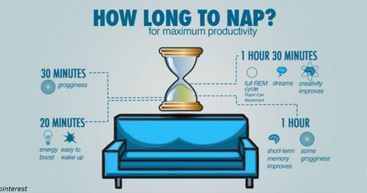 Вот что будет с вашим телом и умом, если вы поспите днем 20 минут 3 раза в неделю