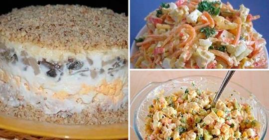 4 рецепта вкусных праздничных салатов