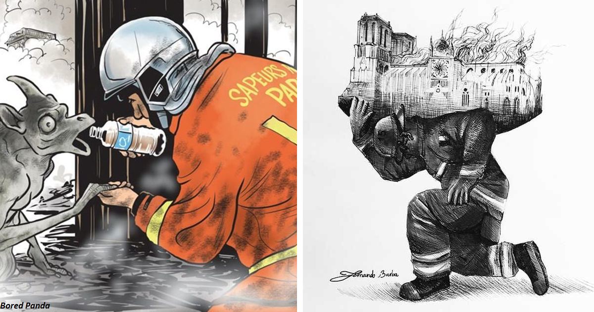 38 художников, которые вместе с нами оплакивают пожар в Нотр-Даме