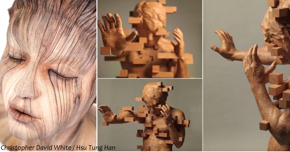 19 деревянных скульптур, которые заставят нас думать, что это дело рук художников будущего