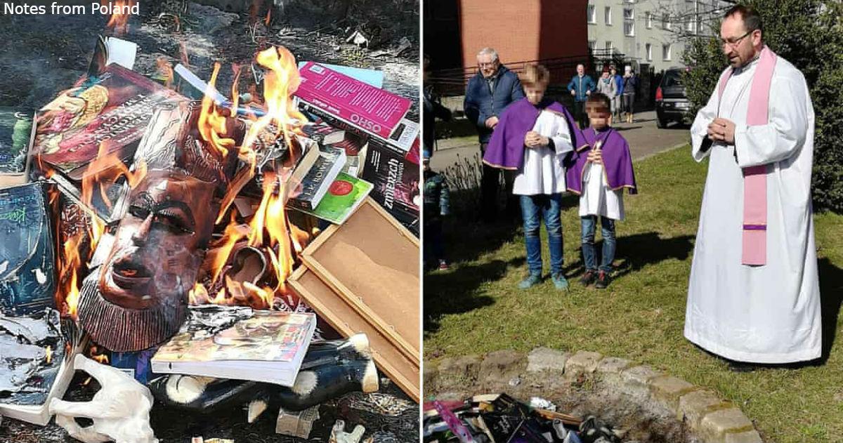 Священники в Польше провели акцию по сжиганию книг. ″Попал″ даже Гарри Поттер