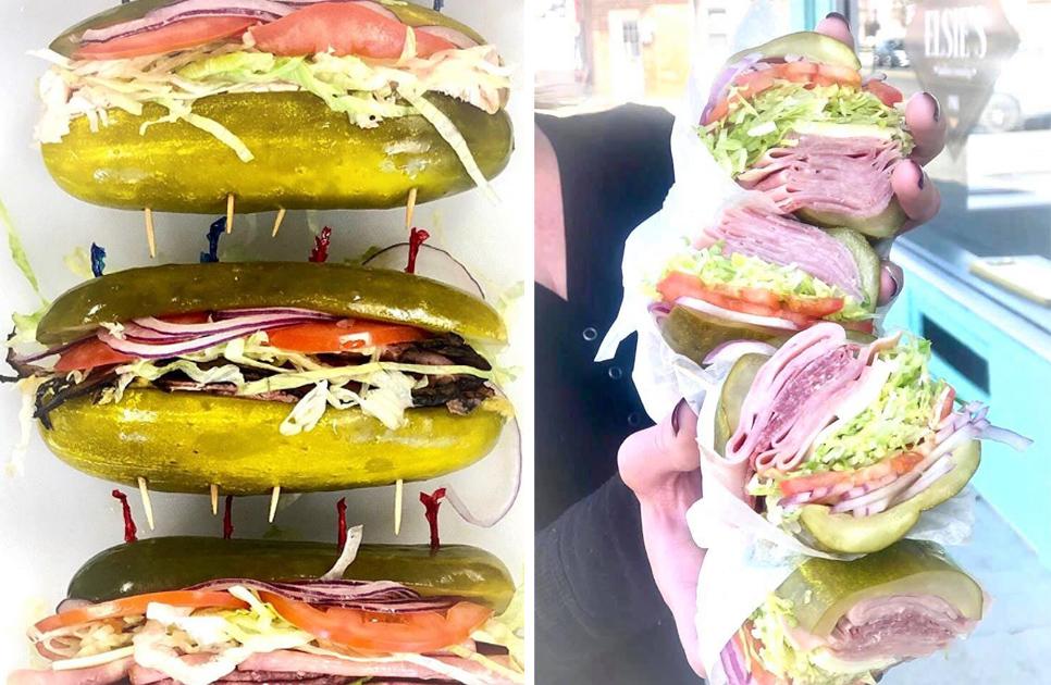 В этом магазине нет ни одного сэндвича с хлебом! Только взгляните