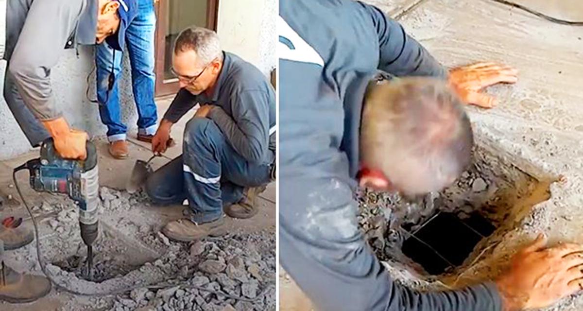 Люди услышали что под землей кто то плачет и настояли, чтобы работники вскрыли бетонный пол…Этим они спасли много жизней!