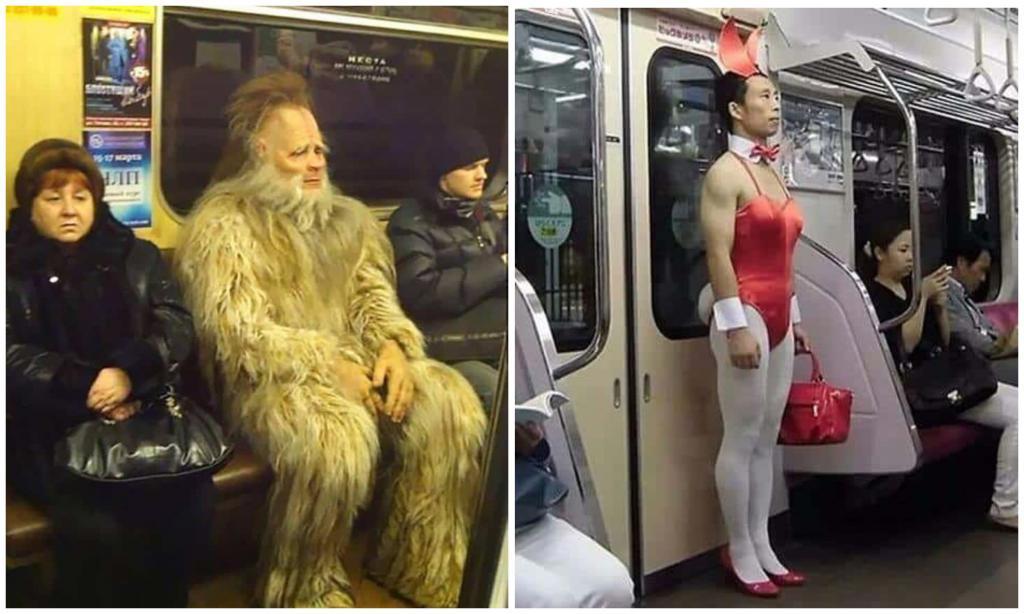 Кого только не встретишь в метро: фото фриков из подземки