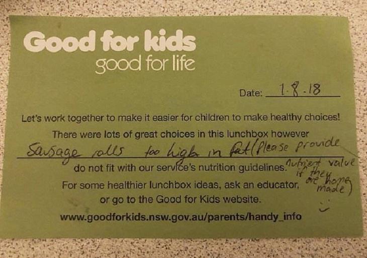 Мальчик в Австралии вернулся из школы голодным, с нетронутым ланч-боксом. Учителя запретили ему слишком жирную домашнюю еду