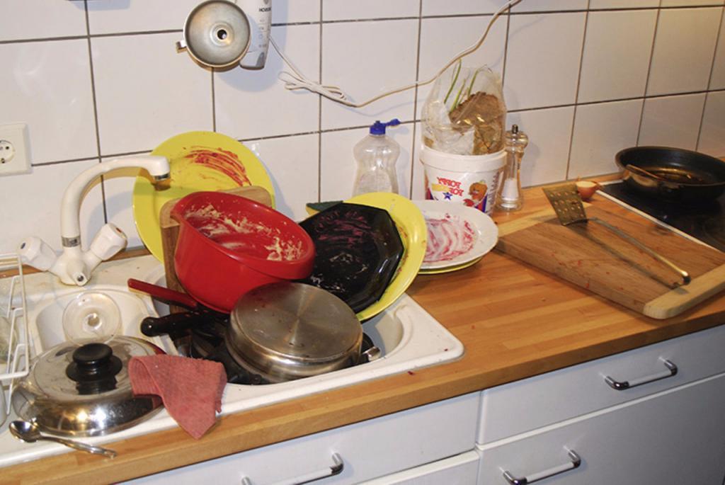 Завтра утром помою . Почему не рекомендуется оставлять грязную посуду на ночь