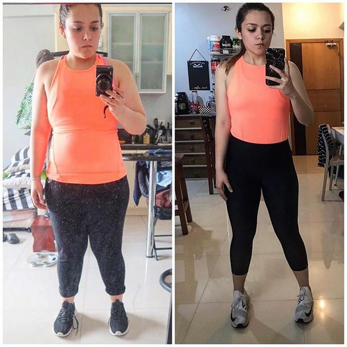 Девушка вычеркнула четыре продукта из своего рациона и постройнела на 13 килограммов. Фото до и после