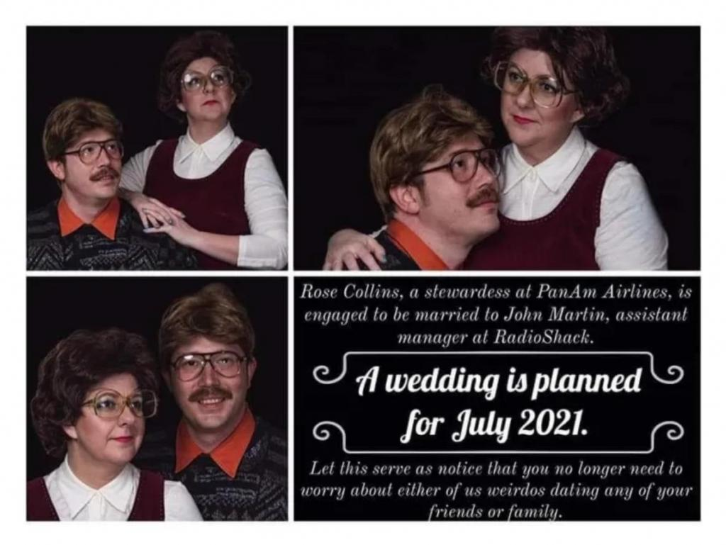 Пара креативно подошла к оформлению свадебных приглашений