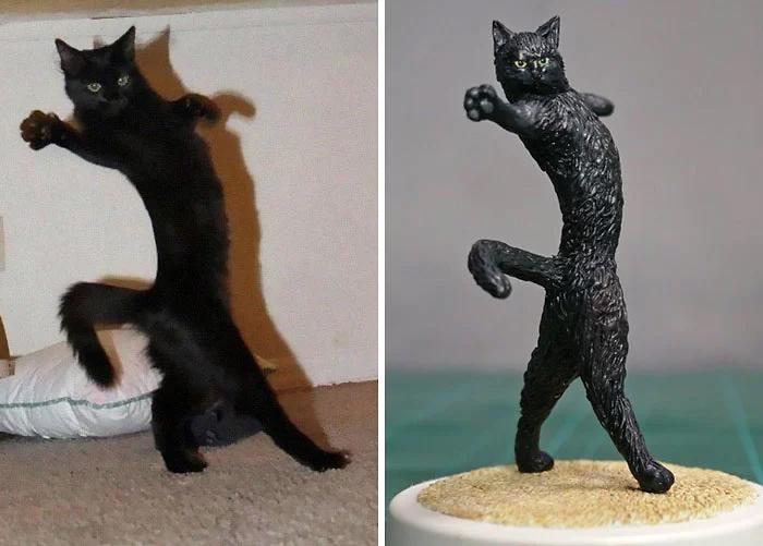 Японский художник создает скульптуры животных по мотивам вирусных фотографий