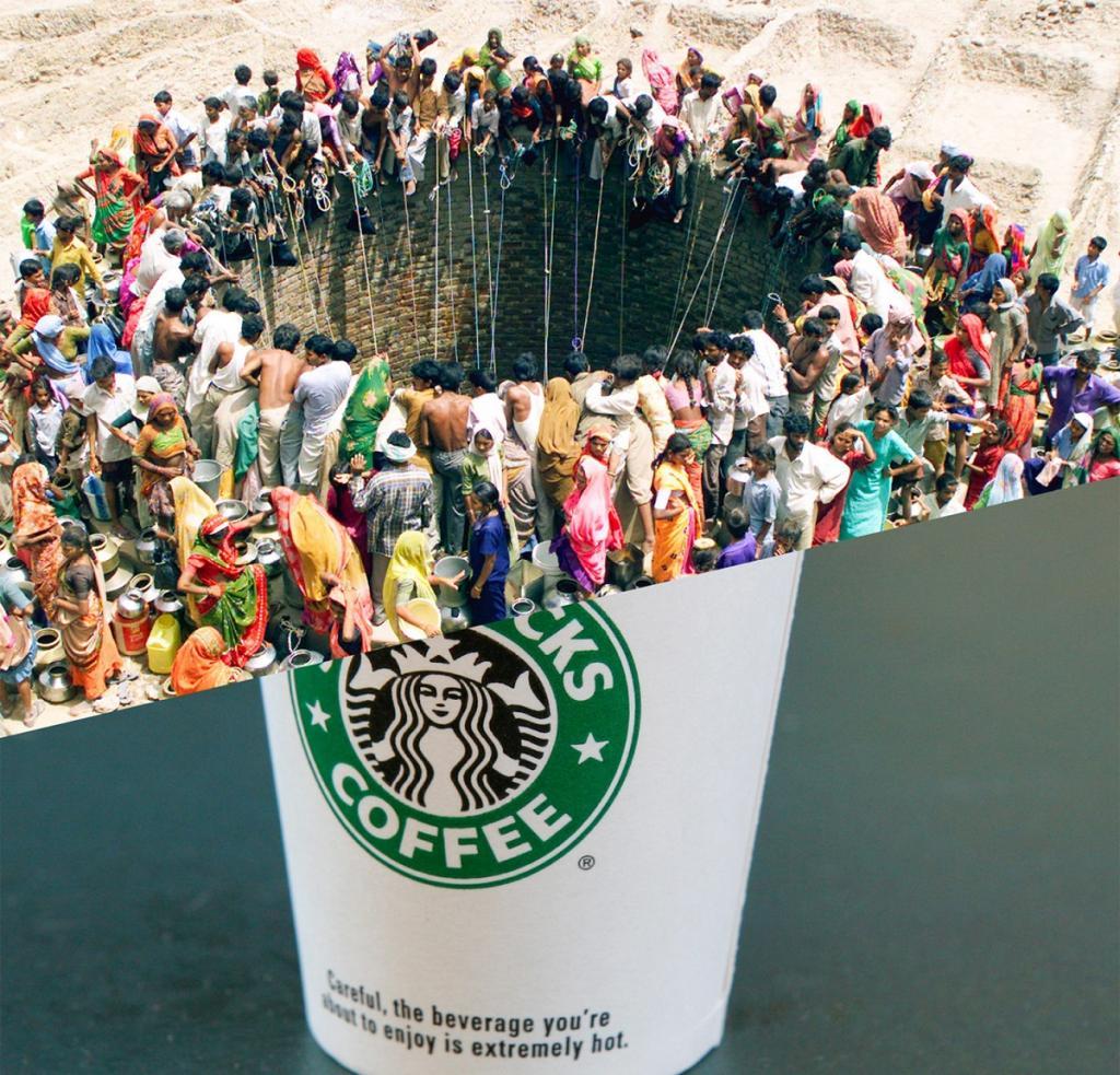 Такой контрастный мир: фотоколлажи турецкого художника повествуют о проблемах современного общества