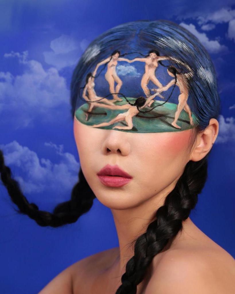 Макияж лица - оптическая иллюзия: шедевры от японского художника