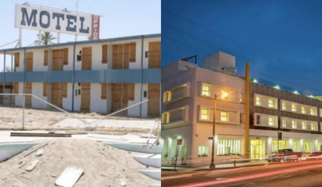 Старый заброшенный мотель в США превратили в уютное жилье для бездомных
