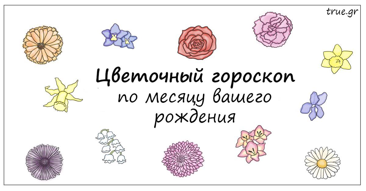 У каждого месяца есть цветок покровитель. Какой он у вас?