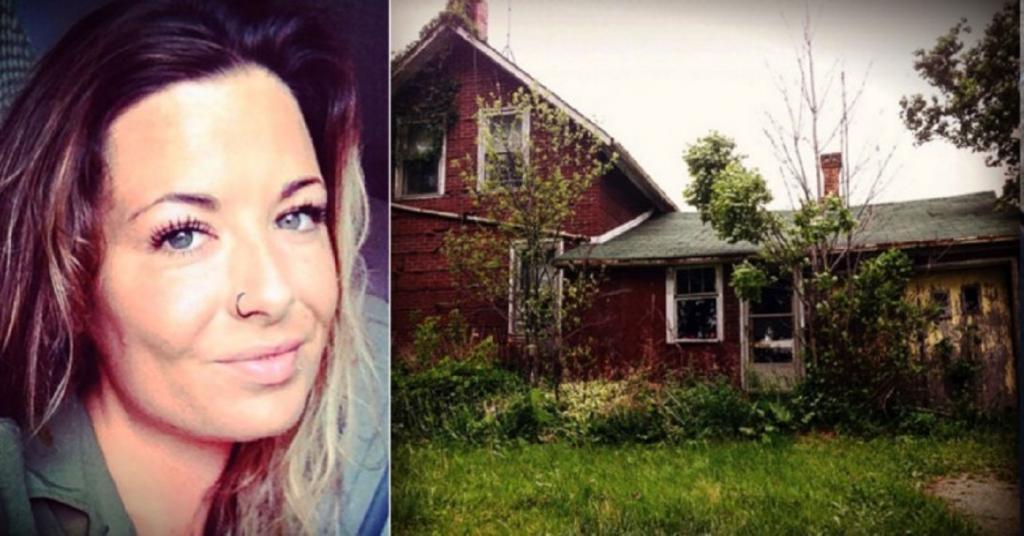Девушка решила обследовать заброшенный дом. Оказалось, строение вовсе не пустует