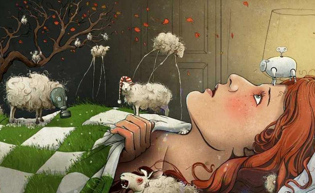 Смешная картинка девушка перед сном