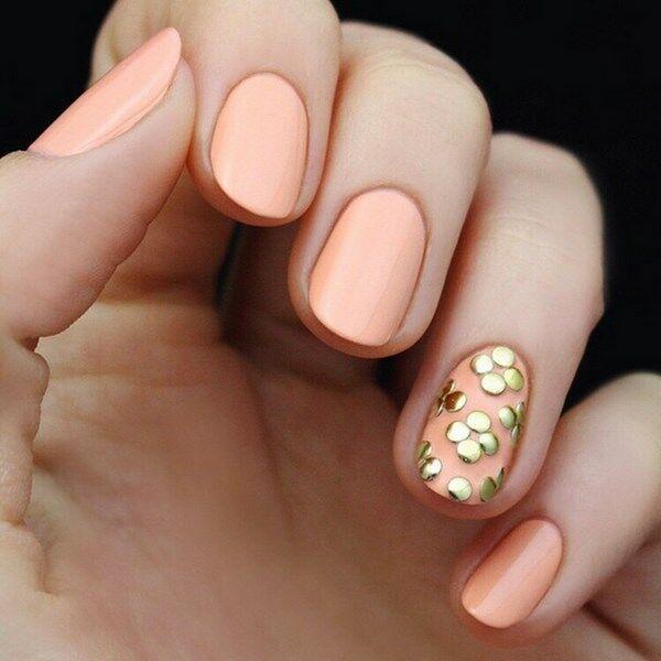Яркие и красивые идеи маникюра цвета персик