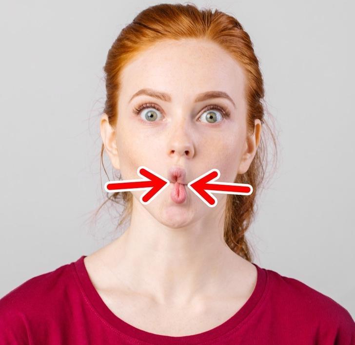 Facial exercise cheeks — photo 5
