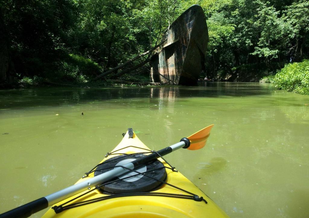 Путешествуя на каяках, люди обнаружили старинный заброшенный корабль, которому больше 110 лет