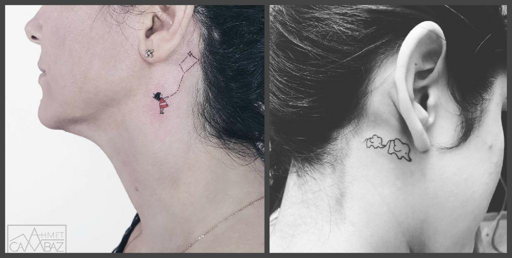 Татуировки на шее могут быть стильными. Оригинальные, уникальные и необычные примеры наколок