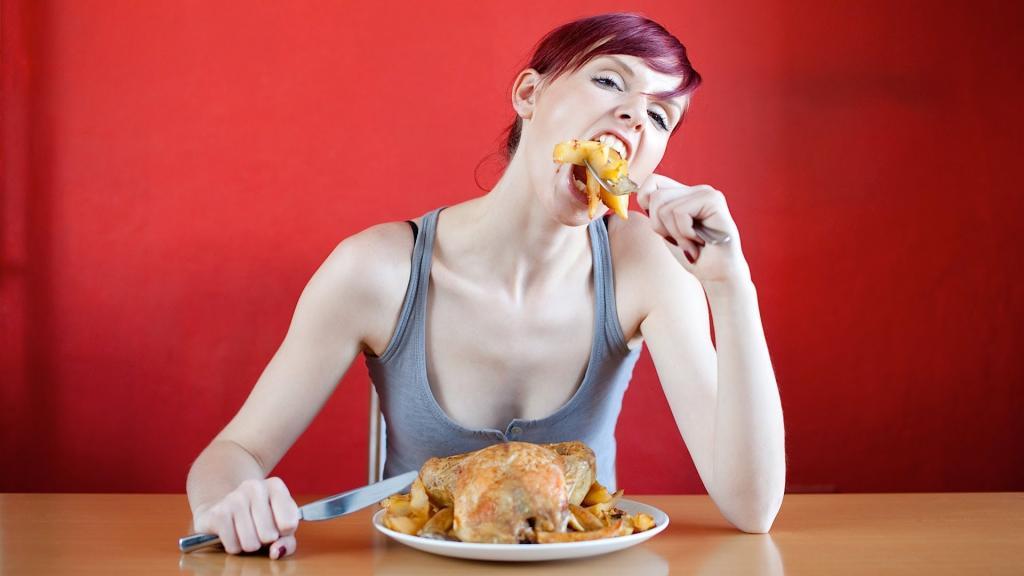 Девушка и еда прикольные картинки, открытки для