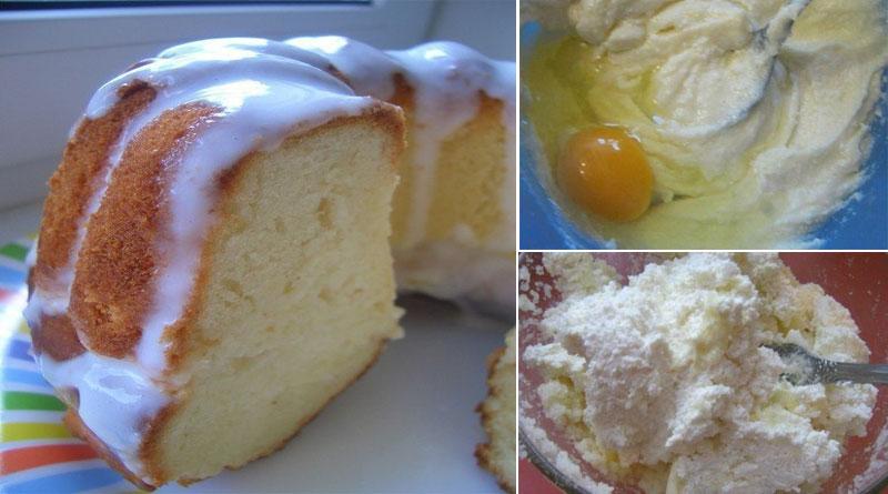 Кекс творожный. Очень быстрый десерт