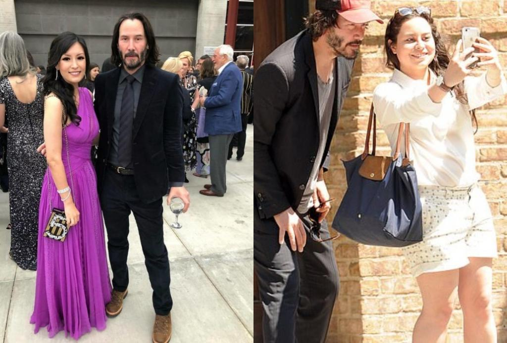 Люди заметили, что Киану Ривз фотографируется с женщинами с вытянутой рукой. Почему актер не касается своих поклонниц