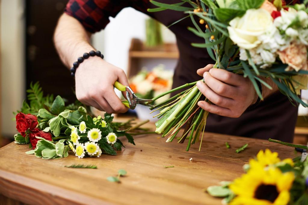 Уход за букетом цветов