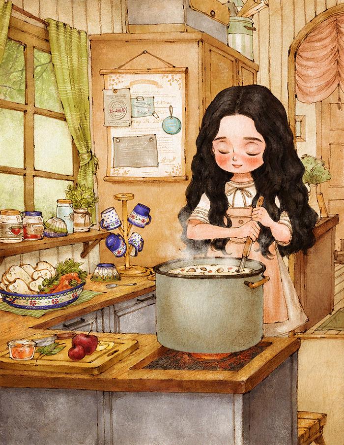 Кухня веселые картинки