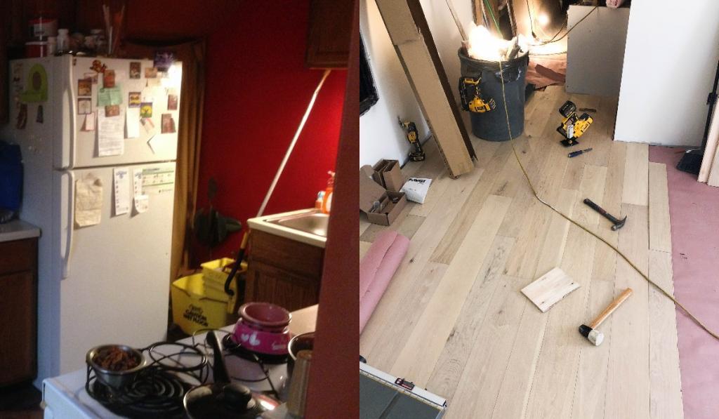 Супругам надоела их маленькая кухня, и они решились позвать профессионалов. После ремонта помещение было сложно узнать