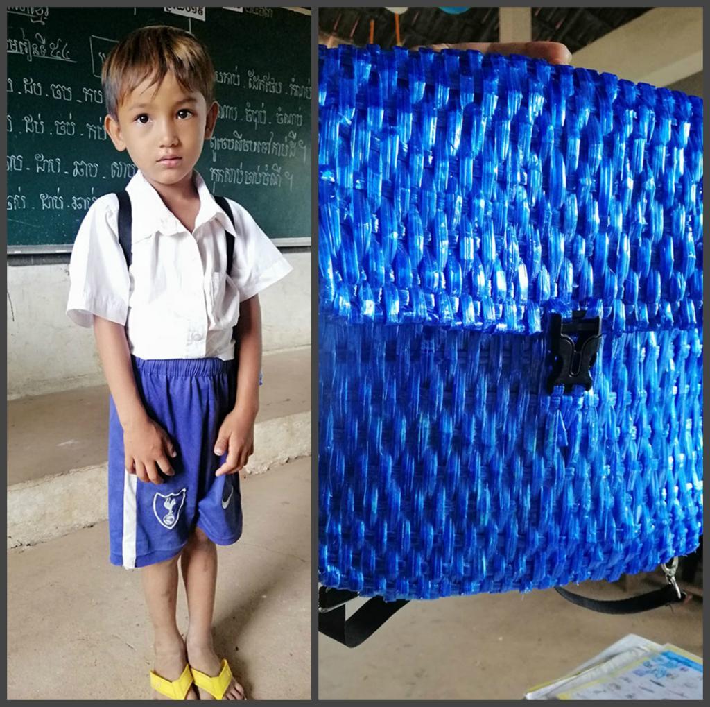 У отца не было денег на новый школьный рюкзак для сына, тогда он сделал его сам (фото)