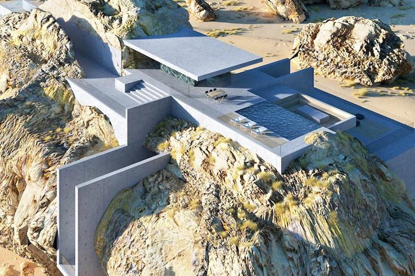 Жилище в скале: каменные глыбы Саудовской Аравии вдохновили архитектора создать оригинальный дом